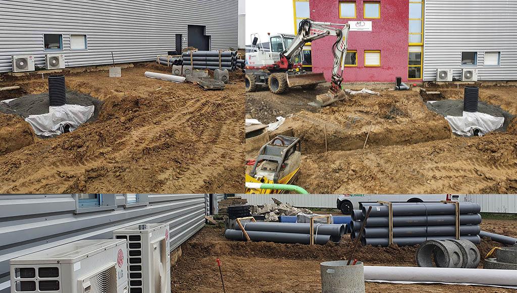Photo Travaux extérieurs bâtiment MT Concept - Février 2021